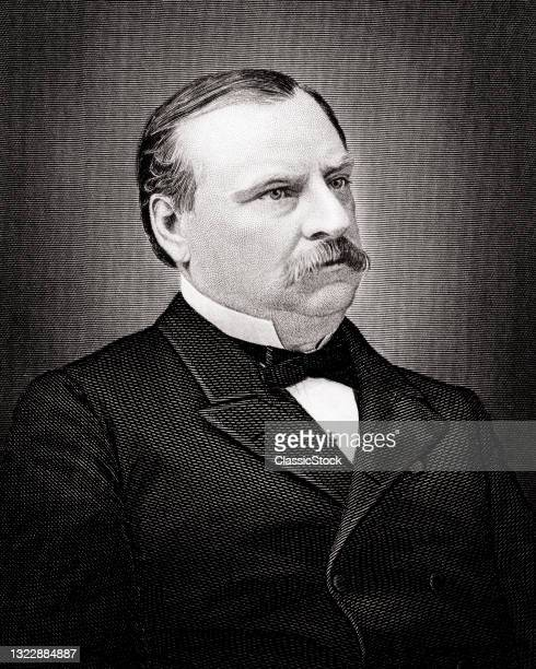 1880s 1800s 1890s 1891 Portrait Of Grover Cleveland 22nd & 24Th American President.