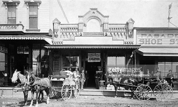 1880s 1885 MEN STANDING...