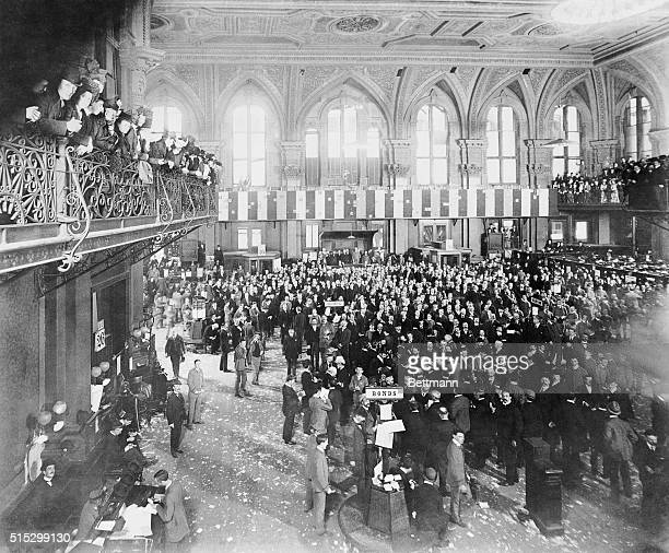 1889Trading on the floor of the New York Stock Exchange Photograph 1889