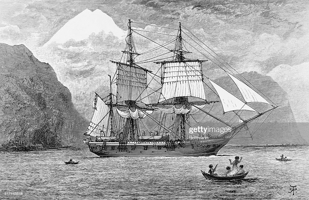 HMS Beagle in Straits of Magellan : News Photo