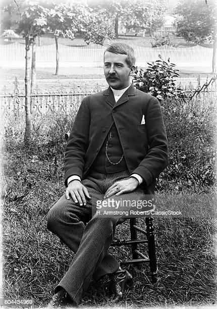1890s 1900s PORTRAIT MAN.