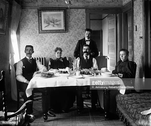 1890s THREE MEN TWO WOMEN...