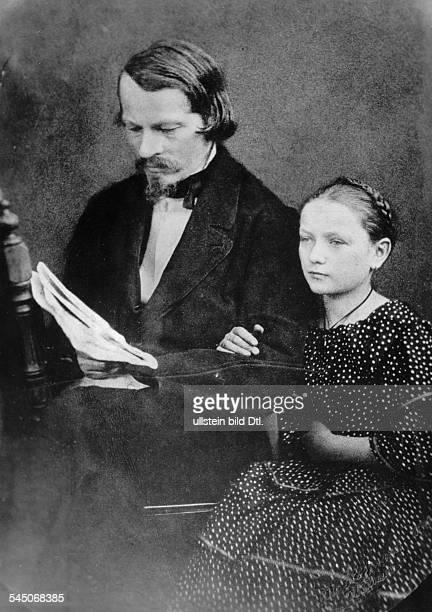 1816 1895Schriftsteller Journalist Politiker DJugendbildnis des Dichters mit seinerNichte oJ