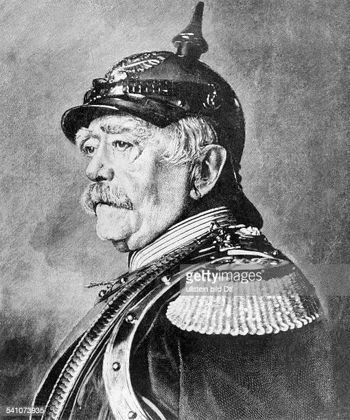 1815 1898Politiker Dmit PickelhaubePorträtStich nach Gemälde