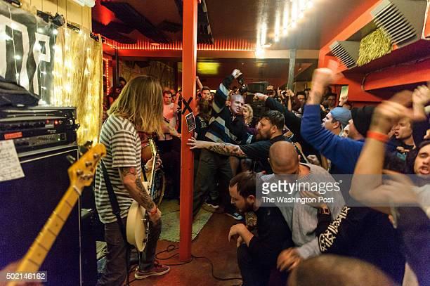 WASHINGTON DC DECEMBER 18th 2015 Brendan Yates of Turnstile performs at the Songbird Music House in Adams Morgan