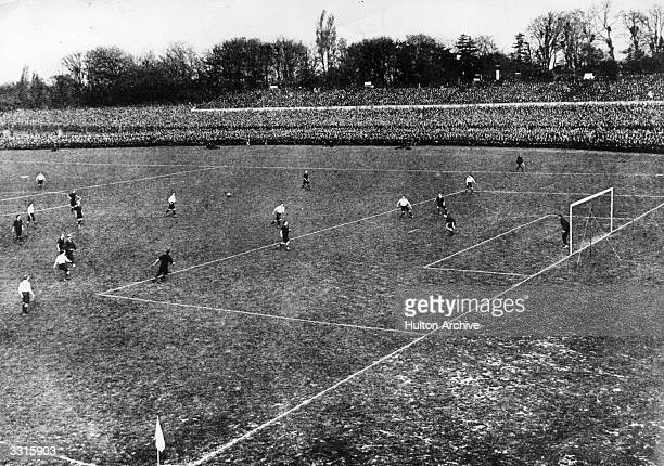 Bury and Derby County in action during the FA Cup Final at Crystal Palace Bury won 60 Original Publication The Graphic pub 1903