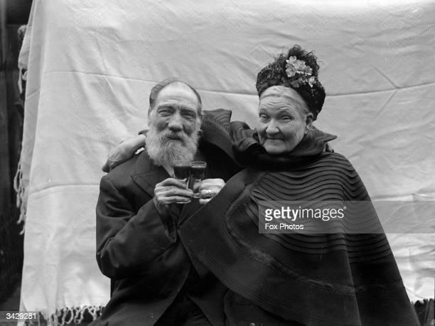 C H Mogridge and his wife celebrate their diamond wedding anniversary