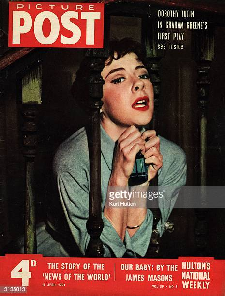 Actress Dorothy Tutin as the mistress in Graham Greene's first play 'The Living Room' Original Publication Picture Post Cover pub 1953