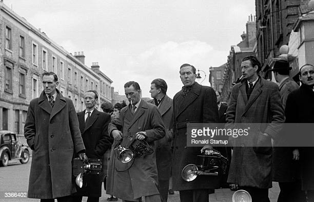 Press photographers and reporters from around the world descend upon Rillington Place in London's Notting Hill 10 Rillington Place was the home of...