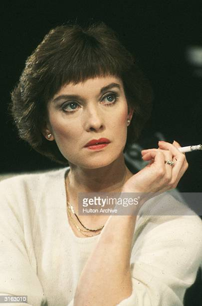 British actress Nicola Pagett stars in a stage production of 'Old Times' by Harold Pinter.