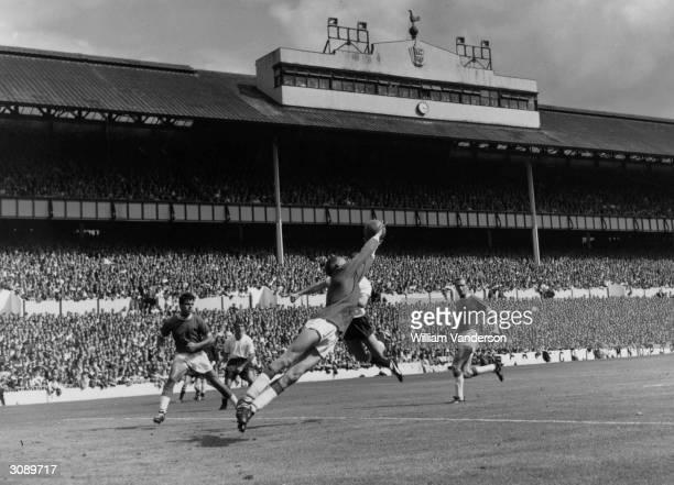 Birmingham City goalkeeper Jimmy Schofield making a save duringa game against Tottenham Hotspur
