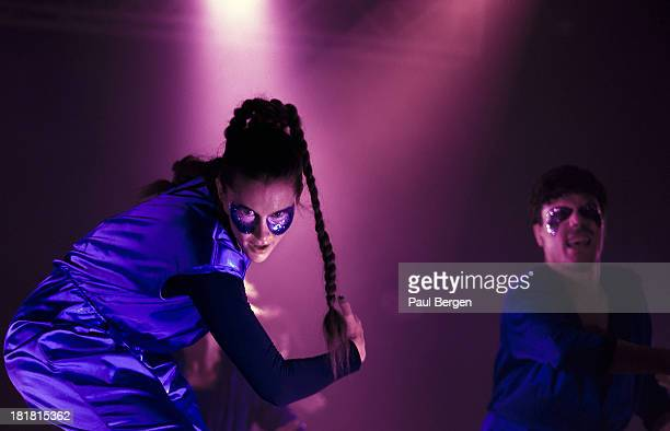 Karin Dreijer Andersson and Olof Dreijer from Swedish electronic music duo The Knife perform live on stage at Lowlands festival in Biddinghuizen...