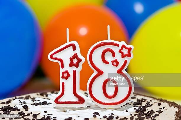 18 th pastel de cumpleaños