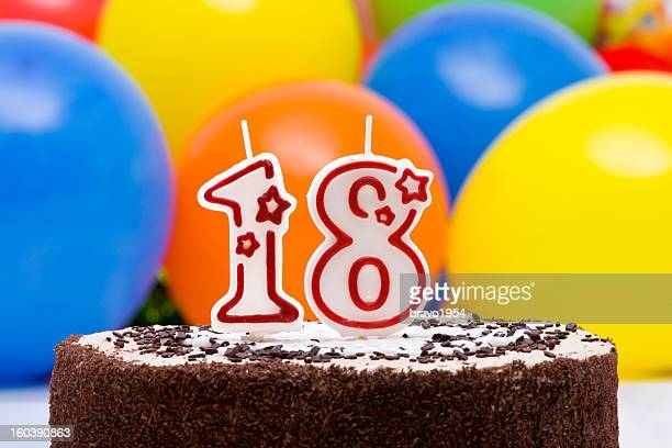 18th birthday cake - 18 19 years stock pictures, royalty-free photos & images