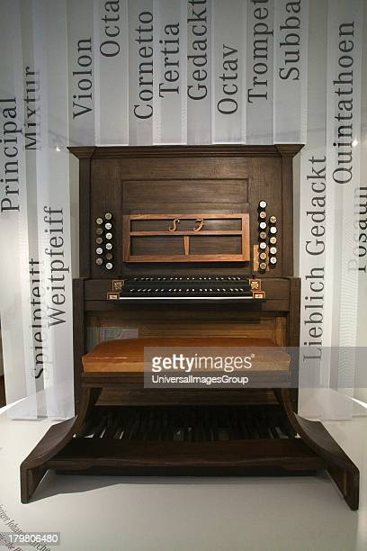 18th Century Bach Era organ displayed in Bach Museum Leipzig Germany