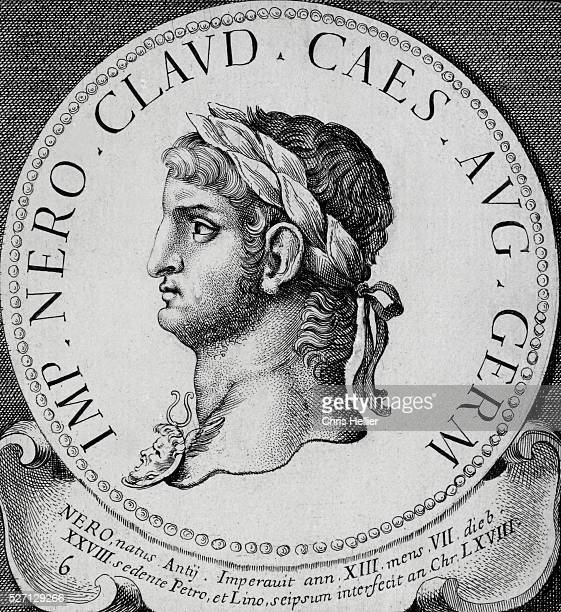 18th Century Engraving of Nero