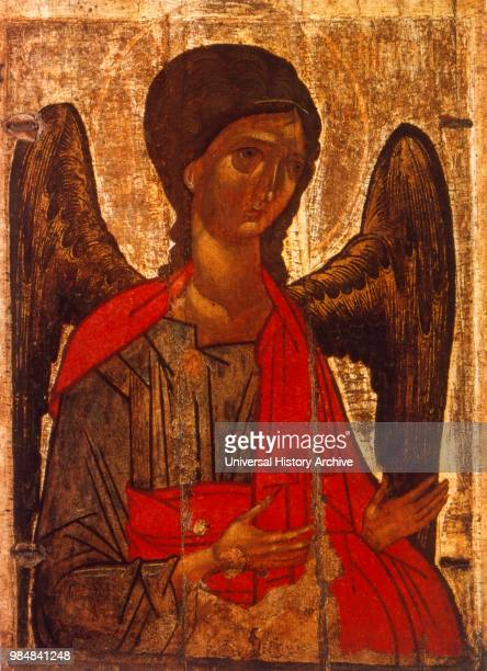 18th century Russian orthodox icon of the Archangel Michael Tretyakov Gallery Moscow Russia