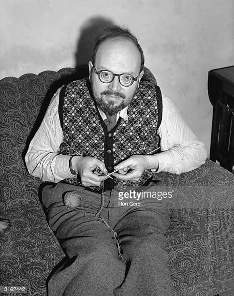 Knitting expert James Norbury begins work on a new garment.