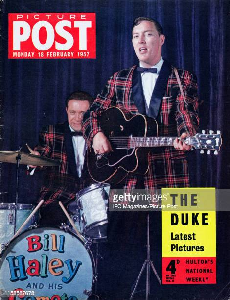 Bill Haley and His Comets at the Dominion Theatre, London, February 1957, on the cover of Picture Post magazine. Original Publication: Picture Post...