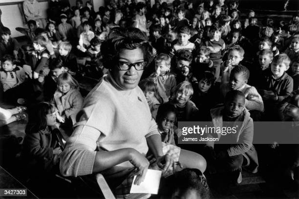 Yvonne Connelly, the first West Indian head of an ILEA school, at King's Cross Infants School.
