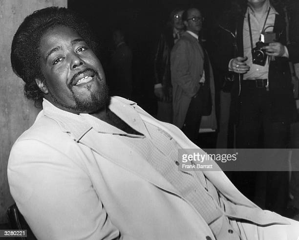 American soul singer Barry White also founder of the female vocal group Love Unlimited and the Love Unlimited Orchestra whom he conducted and...