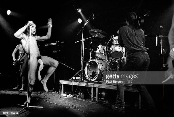Anthony Kiedis from The Red Hot Chili Peppers performs live on stage at De Effenaar in Eindhoven Netherlands on 18th February 1988