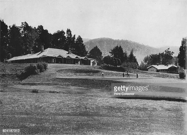 18th Hole and Club House, Golf Links, Nuwara Eliya, Elevation 6,200 Feet', c1890, . From The Hundred Best Views of Ceylon. [Plâté Ltd, Colombo, Kandy...
