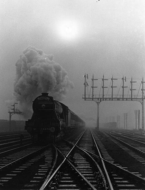 The Flying Scotsman on a misty day.