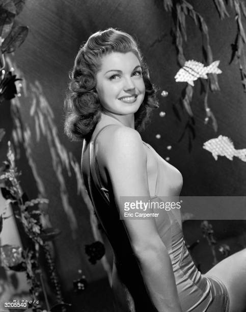 Former swimming champion and Hollywood film star, Esther Williams, in an 'underwater' scene.