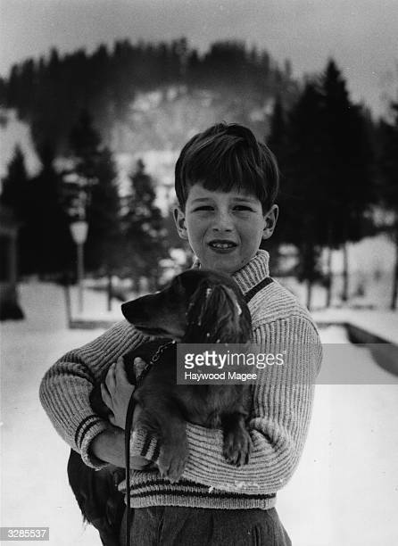 Prince Alexander of Yugoslavia son of King Peter and Queen Alexandra on holiday at Gstaad Original Publication Picture Post 7481 Together Again pub...