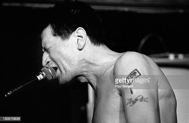 Dutch singer Herman Brood performs live on stage at Cafe De Guyter in Pijnacker Netherlands on 18th January 1993