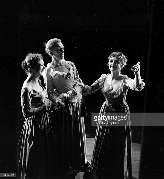 Actresses Maureen Quinney Dorothy Reynolds and Jane Wenham in a scene from the Television play 'The Duenna' Original Publication Picture Post 6588...