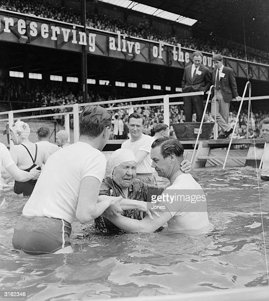 Jehovah's Witnesses being baptised at Twickenham