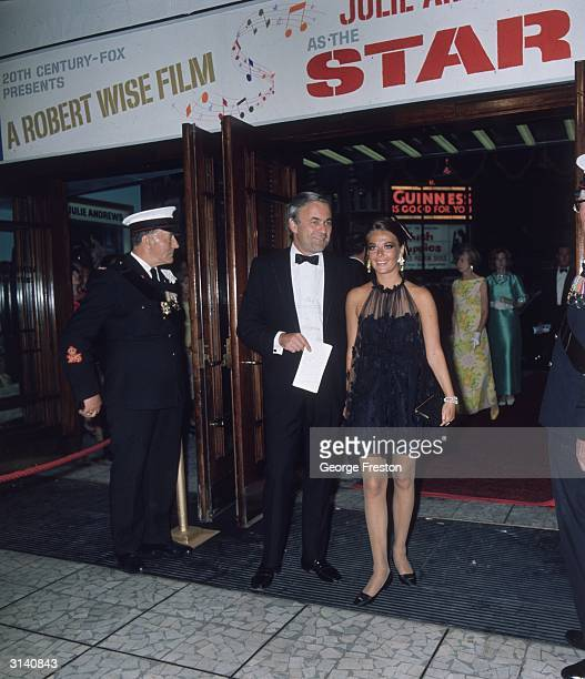 American actress Natalie Wood attends a royal film premiere of 'Star' at the Dominion Theatre in London.