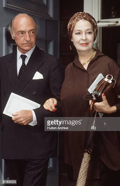 Former War Minister John Profumo with his wife actress Valerie Hobson at the memorial service to Sir Michael Redgrave at St Paul's Church Covent...