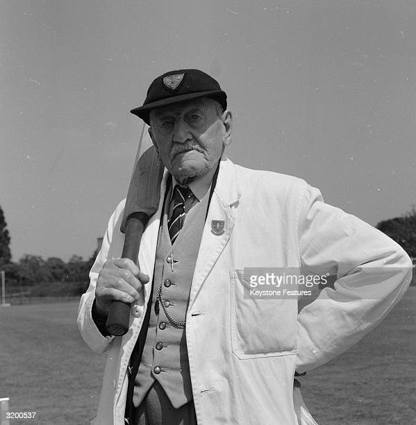 Holding a cricket bat over his shoulder and wearing his umpire's jacket 101 year old Joe Filliston is the first life member of the Association of...