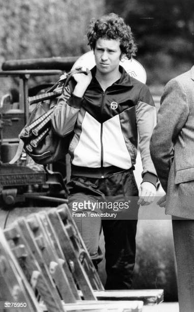 American tennis player John McEnroe arrives to play a match at The Queen's Club, London.