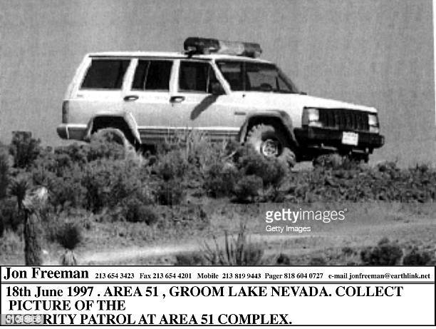 18Th June 1997 Area 51 Groom Lake Nevada Collect Picture Of Security Patrol The Area 51 Complex