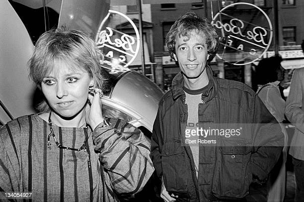 18th JUNE: Robin Gibb of The Bee Gees poses with his wife Dwina Murphy at the Be Bop Cafe in New York City on 18th June1984.