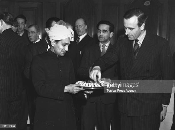 Shortly before leaving to take up his position as Viceroy of India Viscount Louis Mountbatten of Burma attends a reception held by the High...