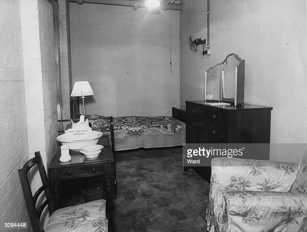 The room allocated to Mrs Churchill in the underground Cabinet War Rooms below Whitehall.