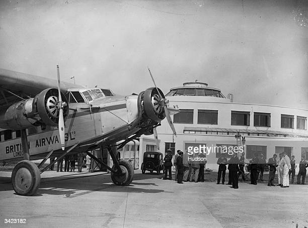 A British Airways Fokker on the tarmac at Gatwick