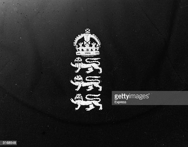 The badge worn on the caps of the England test cricket team