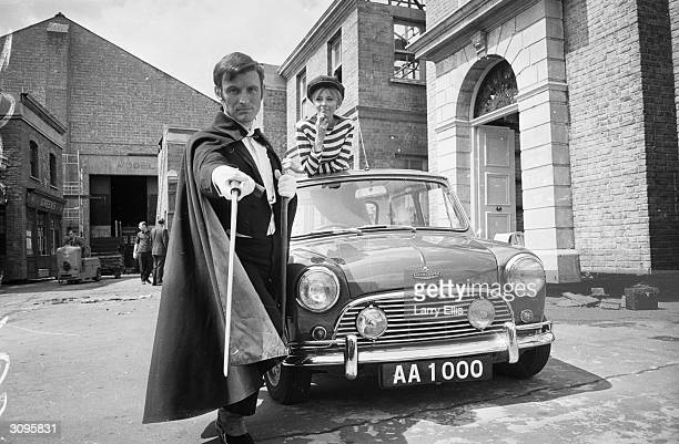 English actor Gerald Harper as Adam Adamant in the new BBC series 'Adam Adamant Returns' in which he plays a turn of the century swashbuckler who is...