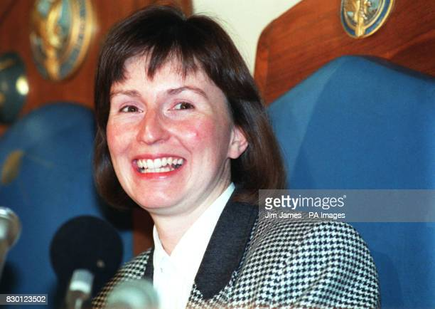 On this day in 1991 Helen Sharman became the first Briton into Space Helen Sharman the first Briton in space smiles during a news conference at the...
