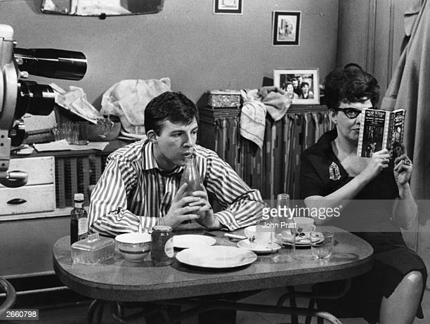 Chris Stanford and Pat Phoenix as Dennis and Elsie Tanner in a scene from the TV soap 'Coronation Street'