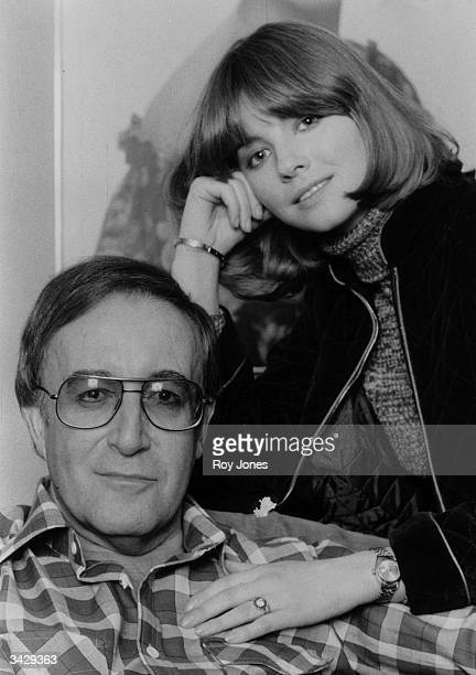 British comedian and actor Peter Sellers with his fourth wife the British actress Lynne Frederick