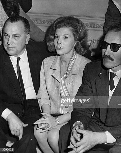 Isabel Martinez de Peron wife of exiled Argentinian president Juan Peron attends a press conference upon her arrival in Argentina for the 20th...