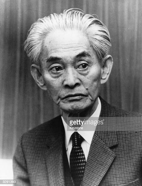 Yasunari Kawabata the Japanese author and winner of the Nobel prize for literature