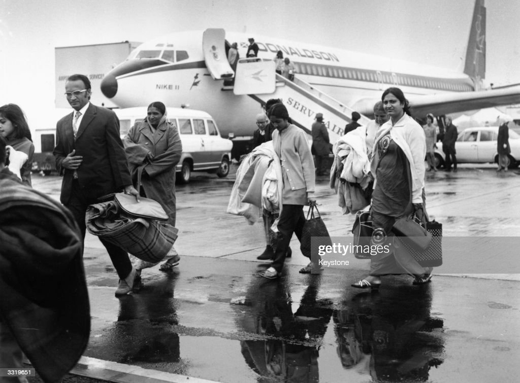 Persecuted and expelled by Idi Amin, the first of around 27,000 Ugandan Asian refugees arrived in the UK on 18 September 1972